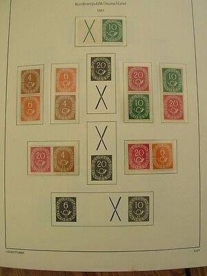 postfrische Sammlung, Zusammendrucke von Posthorn bis 2001 auf Leuchtturm Vordr.