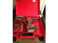 scaffold HILTI impact wrench,,year old,,2 slimline chargers,,charger and socket