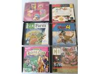 5 pc games plus 4in1 game barbie and children's titles