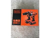 Brand new Black+Decker combi drill+impact driver.