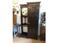 Large Hall Stand - great for coats . Lovely carved detail . Mirror . Lots of hooks