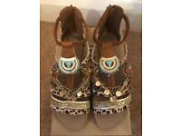 River island sandals size 6 brand new
