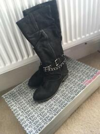 Dune Ladies Black Boots Size 6