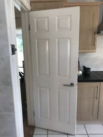 Wood white internal doors with furniture
