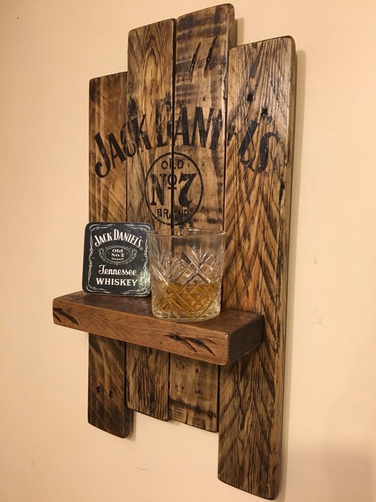 Jack Daniels wooden shelf