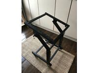 19 inch rack mount studio desk stand on wheels