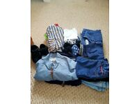 BOYS BUNDLE OF NEXT CLOTHES AND NIKE TRAINERS