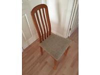 6 Teak Dining Room Chairs