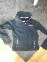 Small Black and Pink Bench Jacket- Excellent Condition