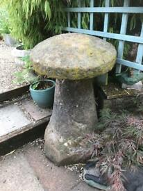 Antique staddle stone