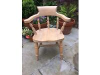 Small child's captains chair