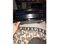 Digital amplifier with built-in digital radio