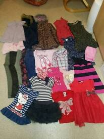 6-7 age girls cloths bundle