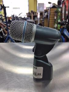 Micro pour drum batterie SHURE BETA 56A excellente condition.  #F019209