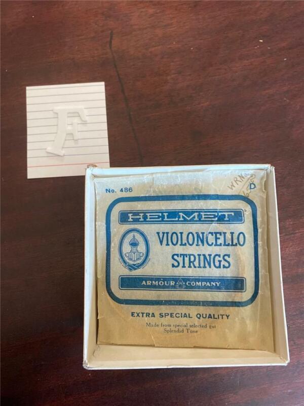 VINTAGE HELMET VIOLIN VIOLONCELLO STRINGS - F