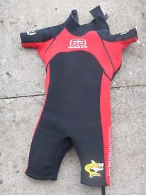 Banana Bite Shortie Wetsuit - Red Size 4