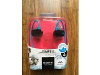 Sony waterproof MP3 player 4gb NEW in package £20