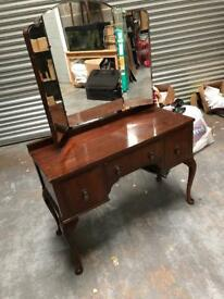 VINTAGE DRESSING TABLE VANITY WITH MIRROR IDEAL PROJECT SHABBY CHIC