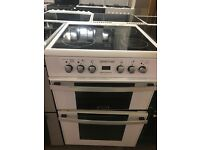 60CM WHITE ZENITH ELECTRIC COOKER