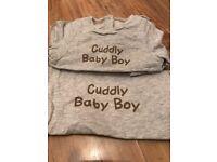 Cuddly Baby Boy Giftset Bag & PJ's 3 Months