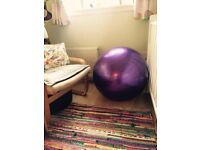 Purple Pilates ball