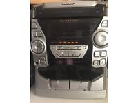 Sharp stereo with 3x speakers, working and in good condition