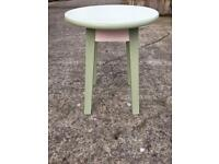 Hand Painted Green and Pink Coffee Table