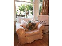 Stylish Cream Armchair