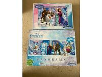 2 Frozen jigsaws - one 1000 piece and one 100 piece puzzle