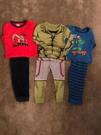 Boys 18-24 months pyjamas x3