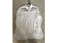 New with tags, River Island embellished collar blouse