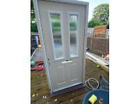 white front exterior composite door