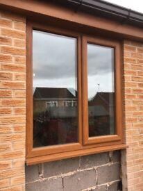Golden oak UPVC window for sale