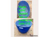 Solid 2 handle tub