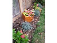 Garden decorative pot collar