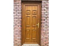 Brown Oak pvc door
