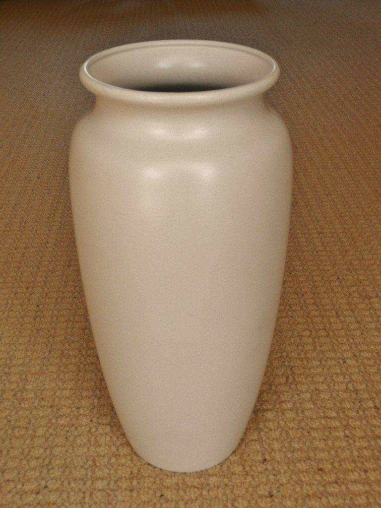 Scheurich 41cm tall white cream floor standing ceramic vase scheurich 41cm tall white cream floor standing ceramic vase living dining room bedroom hallway reviewsmspy