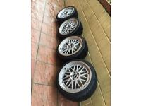 """BBS LM 19"""" 235/35/19 5x112 8.5j brand new tyres"""