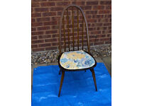 Ercol 1960s Retro Vintage Antique wooden spindle back chair #FREE LOCAL DELIVERY#