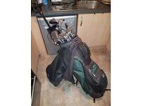 golf clubs,bag+trolley