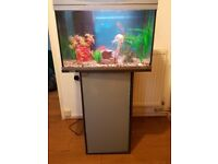 fish tank 60ltr with fish and stand