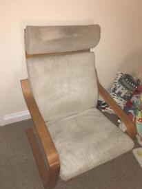 Ikea Poang chair and suede cover
