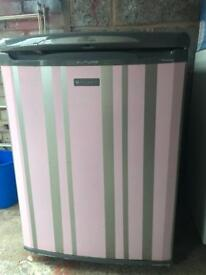 Silver stripy hotpoint fridge