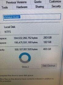 External hard drive 500gig