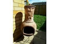 La Hacienda clay wood burner