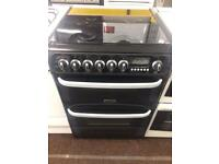 Black cannon 60cm gas cooker grill & double ovens good condition with guarantee
