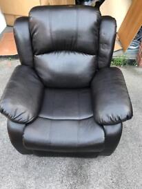 Reclining Armchairs - Brown or Black, more available