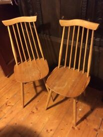 Two Ercol Goldsmith Dining Chairs