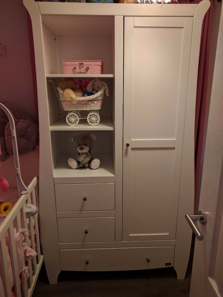 Baby changing unit and wardrobe