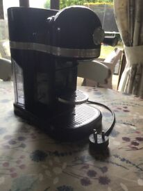 Lovely Nespresso artisan coffee machine by KitchenAid in Onyx Black